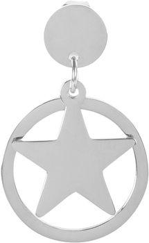 styleBREAKER Damen Edelstahl Ohrringe mit Stern Anhänger im Kreis, Ohrhänger, Ohrschmuck 05090005 – Bild 4