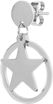 styleBREAKER Damen Edelstahl Ohrringe mit Stern Anhänger im Kreis, Ohrhänger, Ohrschmuck 05090005 – Bild 3