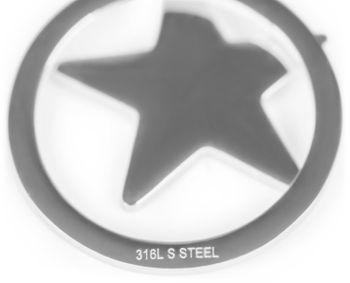 styleBREAKER Damen Edelstahl Ohrringe mit Stern Anhänger im Kreis, Ohrhänger, Ohrschmuck 05090005 – Bild 5