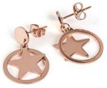 styleBREAKER Damen Edelstahl Ohrringe mit Stern Anhänger im Kreis, Ohrhänger, Ohrschmuck 05090005 – Bild 7