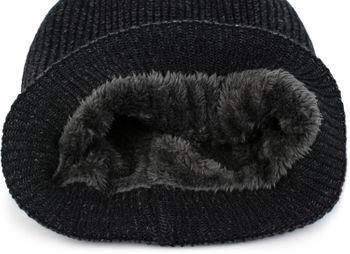 styleBREAKER Unisex melierte Feinstrick Beanie Mütze mit Fleece Futter, Slouch Longbeanie, warme Winter Strickmütze 04024153 – Bild 12