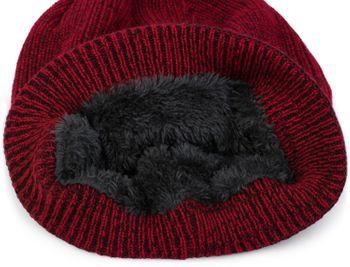 styleBREAKER Unisex melierte Feinstrick Beanie Mütze mit Fleece Futter, Slouch Longbeanie, warme Winter Strickmütze 04024153 – Bild 6
