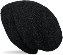 styleBREAKER Unisex melierte Feinstrick Beanie Mütze mit Fleece Futter, Slouch Longbeanie, warme Winter Strickmütze 04024153 – Bild 10
