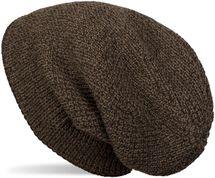 styleBREAKER Unisex melierte Feinstrick Beanie Mütze mit Fleece Futter, Slouch Longbeanie, warme Winter Strickmütze 04024153 – Bild 1