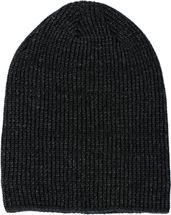 styleBREAKER Unisex melierte Feinstrick Beanie Mütze mit Fleece Futter, Slouch Longbeanie, warme Winter Strickmütze 04024153 – Bild 11