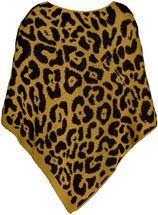 styleBREAKER Damen Feinstrick Poncho mit Leoparden Muster, Animalprint, Rundhals 08010057 – Bild 10