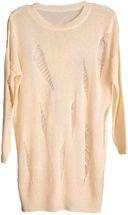 styleBREAKER Damen Oversize Strick Pullover mit Rissen im Destroyed Look, Rundhals, Onesize 08010059 – Bild 2