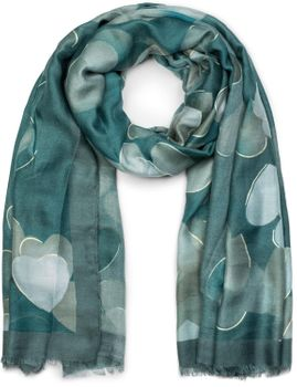 styleBREAKER Damen Schal mit Metallic Herzen und Fransen, Tuch 01017084 – Bild 16