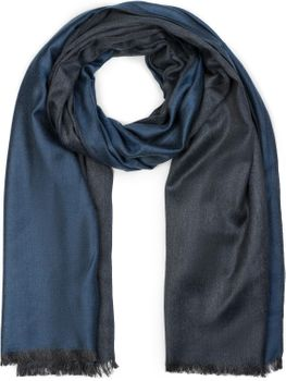 styleBREAKER Unisex Schal 2-farbig meliert mit Fransen, Winter, Tuch 01017090 – Bild 7