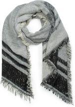 styleBREAKER Damen XXL Schal mit Streifen, Pailletten und Fransen, Winter Strickschal, Stola 01017096 – Bild 5