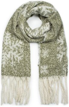 styleBREAKER Damen XXL Schal mit Schneeflocken Muster und Fransen, Winter Strickschal 01017097 – Bild 19