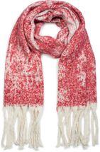 styleBREAKER Damen XXL Schal mit Schneeflocken Muster und Fransen, Winter Strickschal 01017097 – Bild 10