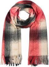 styleBREAKER Unisex Schal mit Karo Muster und Fransen, Winter, Stola, Tuch 01017098 – Bild 7