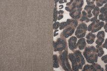 styleBREAKER Damen Schal 3-farbig mit Leo Muster, Winter, Stola, Tuch 01017101 – Bild 12