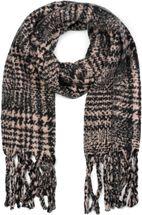 styleBREAKER Unisex XXL Schal mit Karo Muster und langen Fransen, Winter Strickschal 01017102 – Bild 1