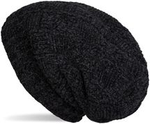 styleBREAKER Unisex Chenille Beanie Mütze mit Flecht Muster und Fleece Futter, Winter Slouch Longbeanie 04024159 – Bild 9