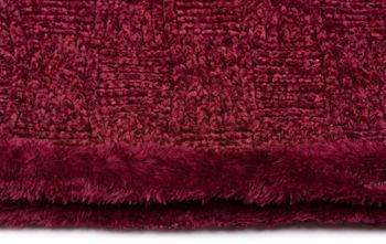 styleBREAKER Unisex Chenille Loop Schal mit Schachbrett Flecht Muster und Fleece Futter, Schlauchschal 01018158 – Bild 13