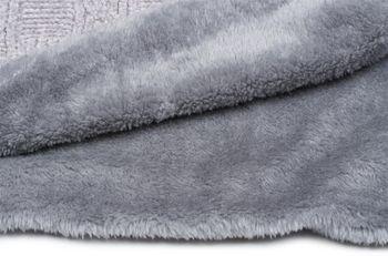 styleBREAKER Chenille Loop Schal mit Schachbrett Flecht Muster und Fleece Futter, Schlauchschal, Unisex 01018158 – Bild 29