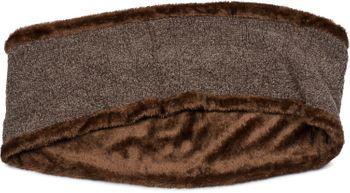 styleBREAKER Unisex Chenille Loop Schal mit Schachbrett Flecht Muster und Fleece Futter, Schlauchschal 01018158 – Bild 7