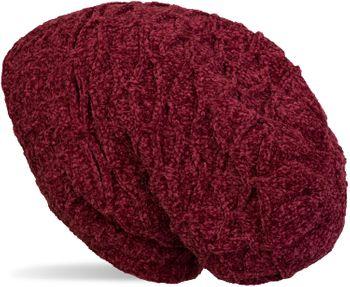 styleBREAKER Unisex Chenille Beanie Mütze mit Waben Strick Muster und Fleece Futter, Winter Slouch Longbeanie 04024160 – Bild 17