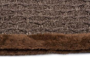 styleBREAKER Unisex Chenille Loop Schal mit Waben Muster und Fleece Futter, Schlauchschal 01018159 – Bild 3