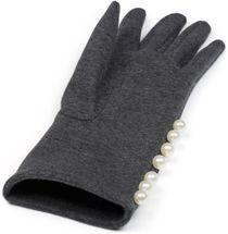 styleBREAKER Damen Handschuhe mit Perlen und Fleece Futter, Winter 09010013 – Bild 3