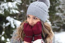 styleBREAKER Damen Handschuhe mit Schleifen Detail und Fleece Futter, warme Thermo Fingerhandschuhe Winter 09010015 – Bild 41