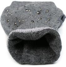 styleBREAKER Damen Fingerlose Strick Handschuhe mit Strass, Winter Strickhandschuhe 09010017 – Bild 8