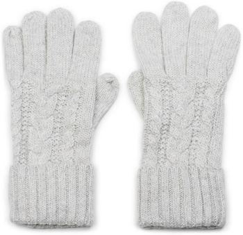 styleBREAKER Damen Strick Handschuhe mit Zopfmuster, Metallic Look und doppeltem Bund, Winter Strickhandschuhe 09010018 – Bild 7