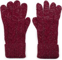 styleBREAKER Damen Strick Handschuhe mit Zopfmuster, Metallic Look und doppeltem Bund, Winter Strickhandschuhe 09010018 – Bild 4
