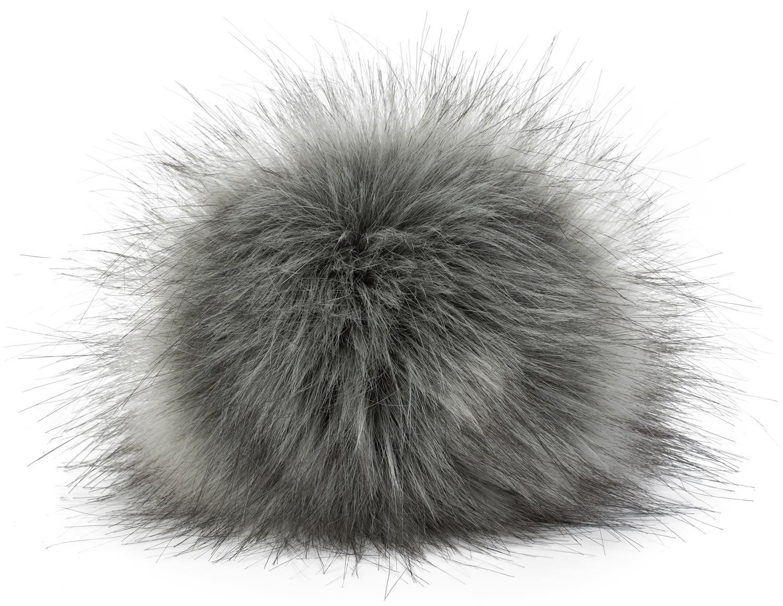 Kunstfell Bommel für Mützen und Beanies Winter Fellbommel Anhänger Fake Fur