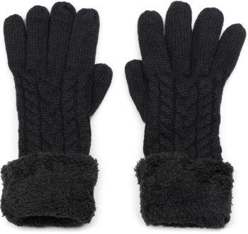 styleBREAKER Unisex warme Winter Handschuhe mit Zopfmuster und Fleece, Strickhandschuhe 09010019 – Bild 2