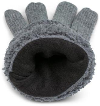 styleBREAKER Unisex warme Winter Handschuhe mit Zopfmuster und Fleece, Strickhandschuhe 09010019 – Bild 8