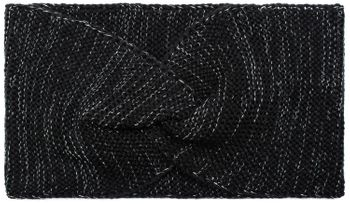 styleBREAKER Damen Feinstrick Stirnband Metallic Look, Twist Knoten, warmes Winter Haarband, Headband 04026034 – Bild 1