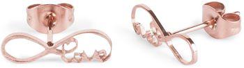 styleBREAKER Damen Edelstahl Ohrringe mit Infinity 'Love' Symbol, Ohrstecker, Ohrschmuck 05090007 – Bild 2
