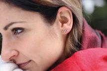 styleBREAKER Damen Edelstahl Ohrringe mit Infinity 'Love' Symbol, Ohrstecker, Ohrschmuck 05090007 – Bild 7