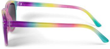 styleBREAKER Kinder Nerd Sonnenbrille mit buntem Rahmen, Kunststoff Rahmen und Polycarbonat Flachgläsern 09020090 – Bild 17