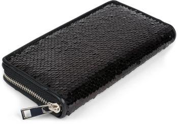 styleBREAKER Damen Portemonnaie mit Wende Pailletten Oberfläche, Reißverschluss, Geldbörse 02040120 – Bild 22