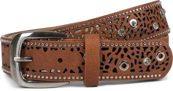 styleBREAKER Damen Gürtel mit Cutout Lochmuster, Strass und Nieten, Vintage Nietengürtel, kürzbar 03010092 – Bild 13