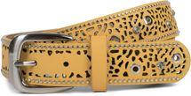 styleBREAKER Damen Gürtel mit Cutout Lochmuster, Strass und Nieten, Vintage Nietengürtel, kürzbar 03010092 – Bild 3