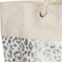 styleBREAKER Damen XXL Strandtasche mit Metallic Leoparden Animal Print und Reißverschluss, Schultertasche, Shopper 02012282 – Bild 10