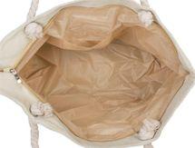 styleBREAKER Damen XXL Strandtasche mit Metallic Leoparden Animal Print und Reißverschluss, Schultertasche, Shopper 02012282 – Bild 6