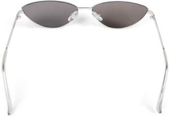 styleBREAKER Damen Cateye Sonnenbrille mit schmalem Metallrahmen, Polycarbonat Flachgläser, Retro Look, Katzenaugen Stil 09020097 – Bild 18