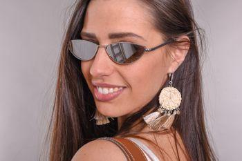 styleBREAKER Damen Cateye Sonnenbrille mit schmalem Metallrahmen, Polycarbonat Flachgläser, Retro Look, Katzenaugen Stil 09020097 – Bild 26