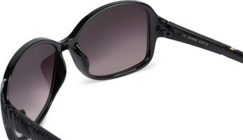 styleBREAKER Damen Sonnenbrille Oversize mit Strukturierten Bügeln, ovalen Polycarbonat Gläsern und Kunststoff Gestell, Retro Style 09020098 – Bild 5