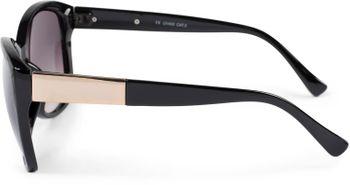 styleBREAKER Damen Oversize Sonnenbrille mit Metall Detail am Bügel, ovalen Polycarbonat Gläsern und Kunststoff Gestell, Retro Style 09020099 – Bild 3