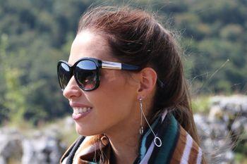 styleBREAKER Damen Oversize Sonnenbrille mit Metall Detail am Bügel, ovalen Polycarbonat Gläsern und Kunststoff Gestell, Retro Style 09020099 – Bild 29