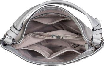 styleBREAKER Damen Hobo Bag Handtasche mit Cutouts in Rauten Form und Quaste, Shopper, Schultertasche, Tasche 02012285 – Bild 5