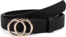 styleBREAKER Damen Gürtel Unifarben mit Ringschnalle, Hüftgürtel, Taillengürtel, Synthetikgürtel, Einfarbig 03010093 – Bild 1