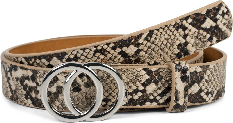 ada7ef578196ba styleBREAKER Damen Gürtel mit Schlangen Muster und Ringschnalle,  Hüftgürtel, Taillengürtel 03010094 – Bild 1